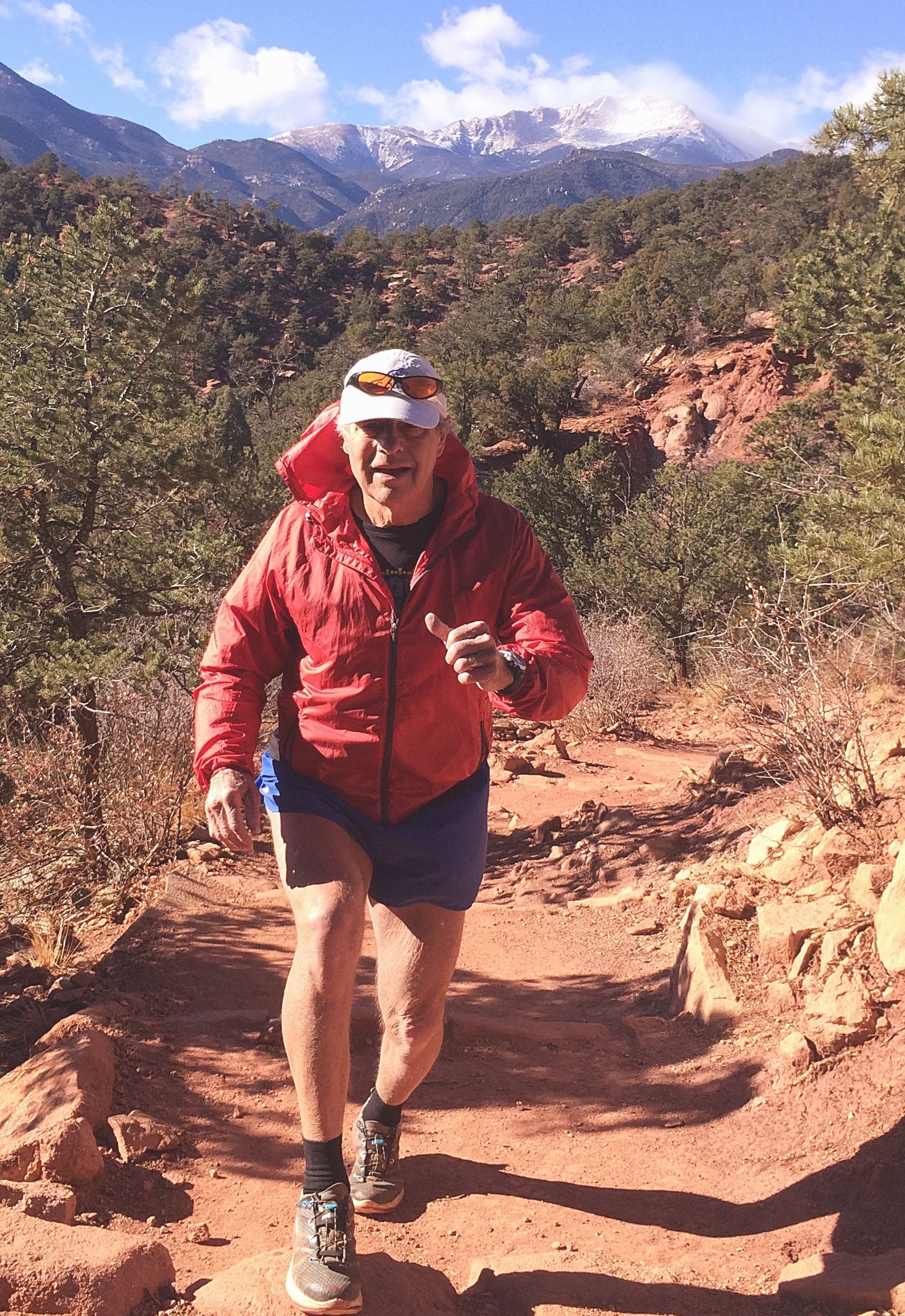 Bob McAndrews running in Garden of the Gods